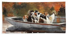 Hunting Dogs In Boat - Digital Remastered Edition Bath Towel