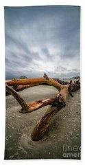 Hurricane Florence Beach Log - Portrait Hand Towel