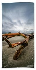 Hurricane Florence Beach Log - Portrait Bath Towel