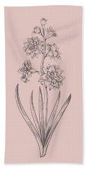 Hyacinth Blush Pink Flower Bath Towel