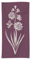 Hyacinth Purple Flower Bath Towel