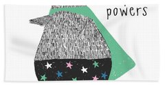I Have Super Powers - Baby Room Nursery Art Poster Print Bath Towel