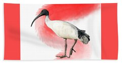 I Is For Ibis Hand Towel