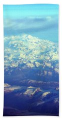 Ice Covered Mountain Top Hand Towel