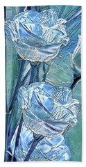 Ice Lisianthus Hand Towel