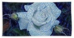 Ice Rose Hand Towel