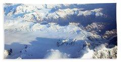 Icebound Mountains Bath Towel