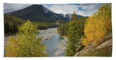 Icefields Parkway Autumn Hand Towel