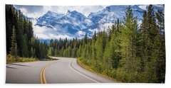 Icefields Parkway Curve Hand Towel