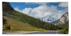 Icefields Parkway Mountains Hand Towel