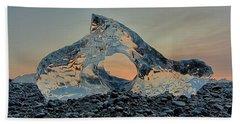 Bath Towel featuring the photograph Iceland Diamond Beach Abstract  Ice by Nathan Bush