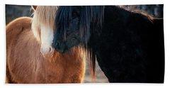 Icelandic Horse Love Hand Towel