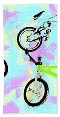 Illustrative Bike Pastel Bath Towel