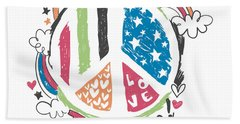 Imagine Love And Peace - Baby Room Nursery Art Poster Print Hand Towel