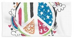 Imagine Love And Peace - Baby Room Nursery Art Poster Print Bath Towel