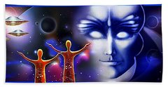 Imagine - What Is Out  There Hand Towel