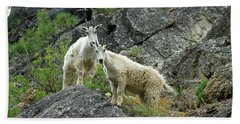 Idaho Mountain Goats Bath Towel