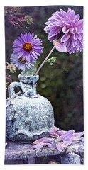 In A Purple Garden Hand Towel