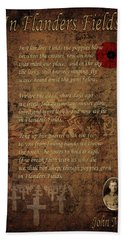 In Flanders Fields 2 Bath Towel