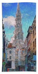 In-spired  Street Scene Brussels Hand Towel