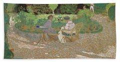 In The Garden, 1898 Bath Towel