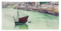 In The Harbor, 1928 Hand Towel