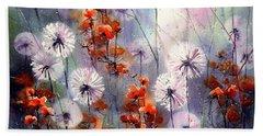 In The Night Garden - Orange Sparkles Hand Towel