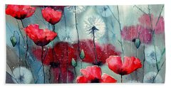 In The Night Garden - Rising Poppies Bath Towel