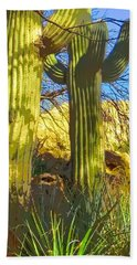 In The Shadow Of Saguaros Bath Towel