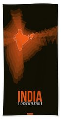 India Radiant Map 1 Hand Towel
