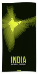 India Radiant Map 2 Hand Towel