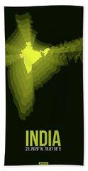 India Radiant Map 2 Bath Towel