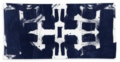 Indigo Abstract 2- Art By Linda Woods Bath Towel