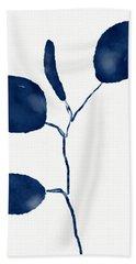 Indigo Eucalyptus 2- Art By Linda Woods Hand Towel