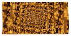 Infinity Tunnel Yellow Dots Bath Towel