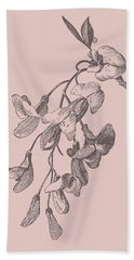 Inflorescence Blush Pink Flower Bath Towel
