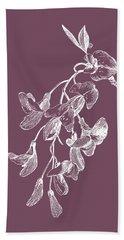 Inflorescence Purple Flower Bath Towel