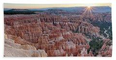 Inspiration Point Sunrise Bryce Canyon National Park Summer Solstice Bath Towel