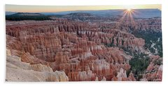 Inspiration Point Sunrise Bryce Canyon National Park Summer Solstice Hand Towel