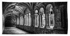 Interior Corridors Of The Monastery Of Santo Estevo De Ribas Del Sil Bath Towel