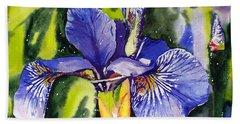 Iris In Bloom Hand Towel