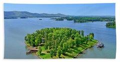 Emerald Island, Smith Mountain Lake, Va. Bath Towel