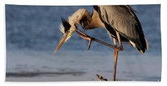 Itchy - Great Blue Heron Hand Towel
