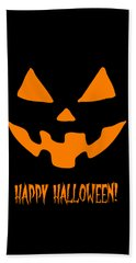 Jackolantern Happy Halloween Pumpkin Bath Towel