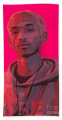 Jaden Smith In Icon Red Hand Towel