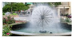 James Brown Blvd Fountain - Augusta Ga Bath Towel