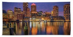 January Sunset At Fan Pier Hand Towel