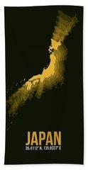 Japan Radiant Map II Hand Towel