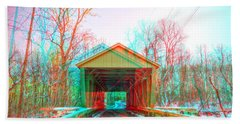 Jericho Covered Bridge 3d Anaglyph Hand Towel