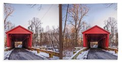 Jericho Covered Bridge 3d Stereo Crossview Hand Towel